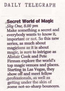 Secret world of magic